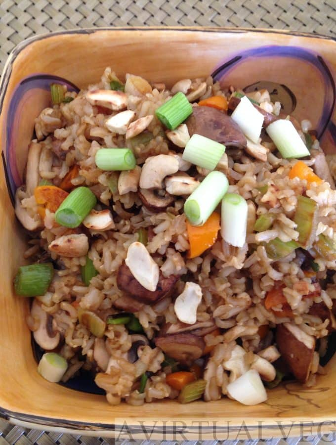 Healthy Mushroom Fried Rice