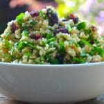 lemon, spinach & cranberry salad