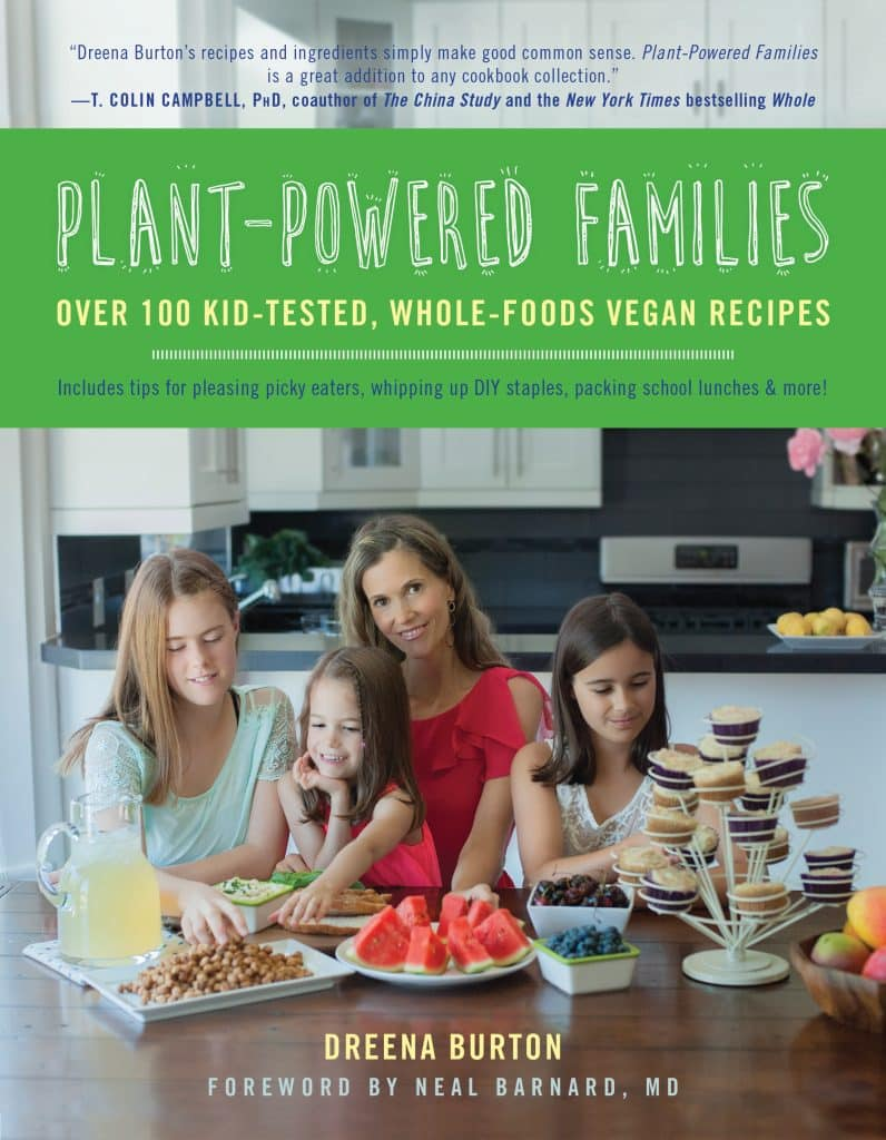 cover of the plant powered families book by Dreena Burton