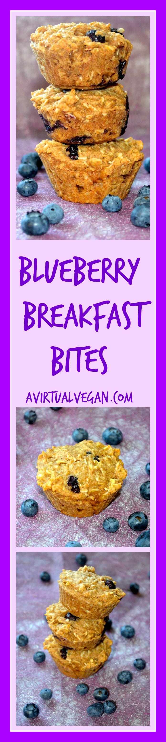 Blueberry Breakfast Bites. Healthy, little muffins crammed full of oozy blueberries. A great way to start the day!