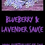 Blueberry & Lavender Sauce