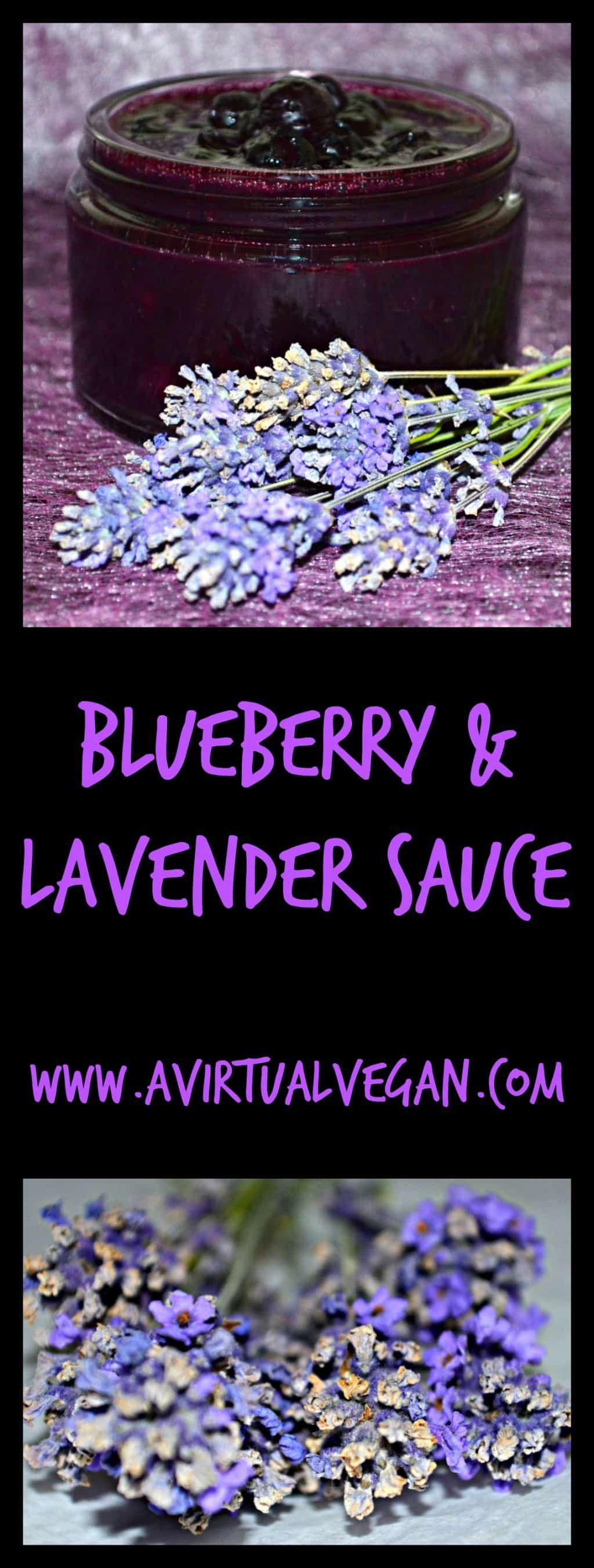 Deep purple Blueberry Lavender Sauce with a sweet, floral aroma & unmistakable herbal undertones of lavender. Great with so many things! #blueberry #lavender #sauce