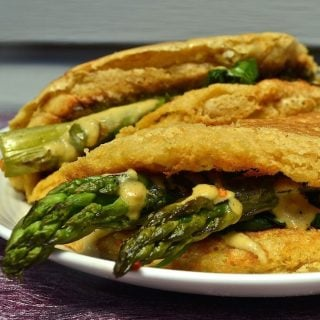 Vegan Omelette With Asparagus Spinach Amp Cheese A