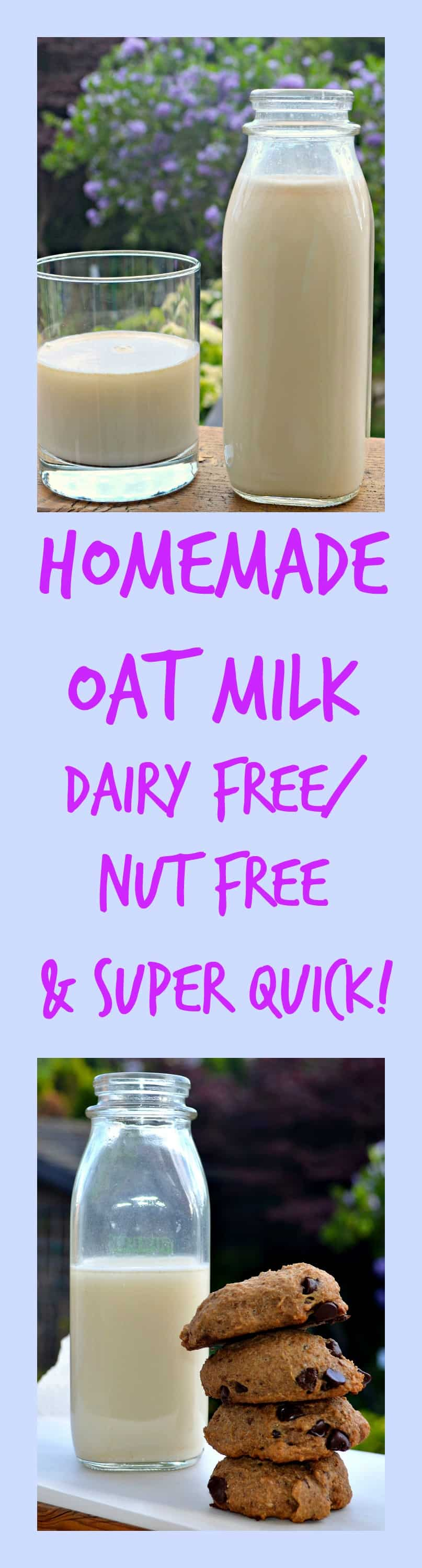 Making your own non-dairy oat milk is super easy and super cheap with none of the nasty additives that come in store bought milks. #oatmilk #nondairymilk #vegan