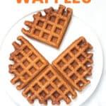 apple waffles on a plate