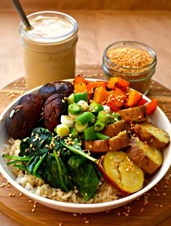 Roasted Garlic Buddha Bowl