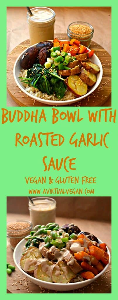 Buddha Bowl With Roasted Garlic Sauce