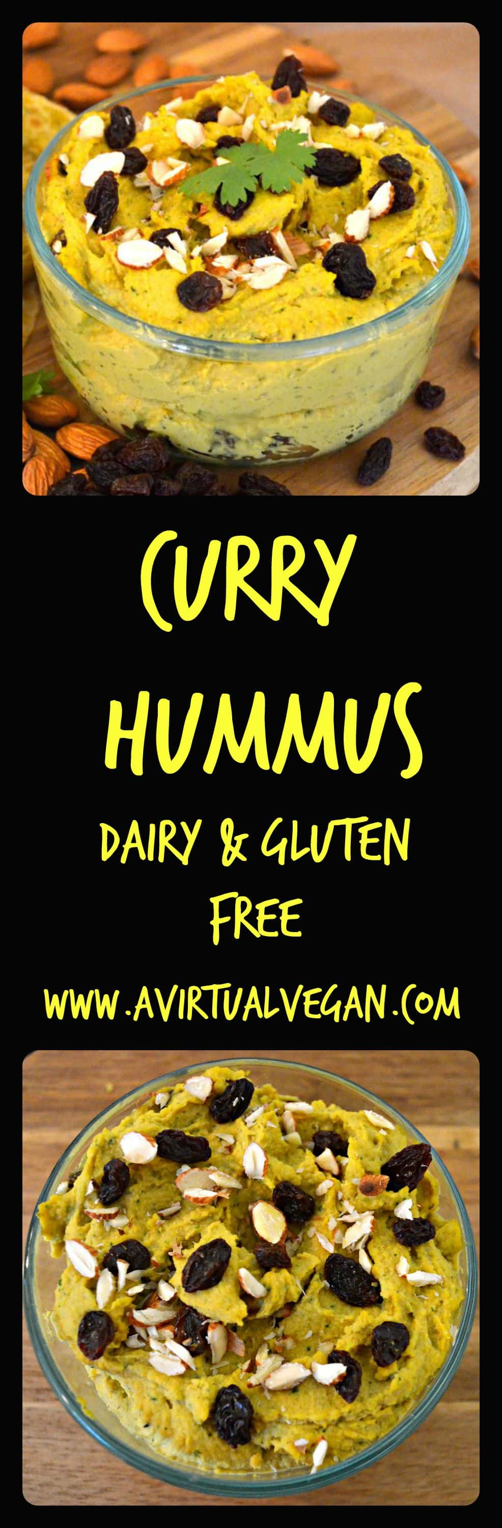 Smooth and creamy Curry Hummus with juicy raisins which add a burst of sweetness and compliment the curry flavour perfectly.
