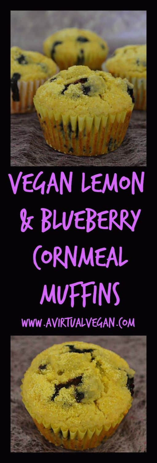 These light & fluffy lemon & blueberry cornmeal muffins are absolutely bursting with lemon flavour & stuffed full of plump blueberries.
