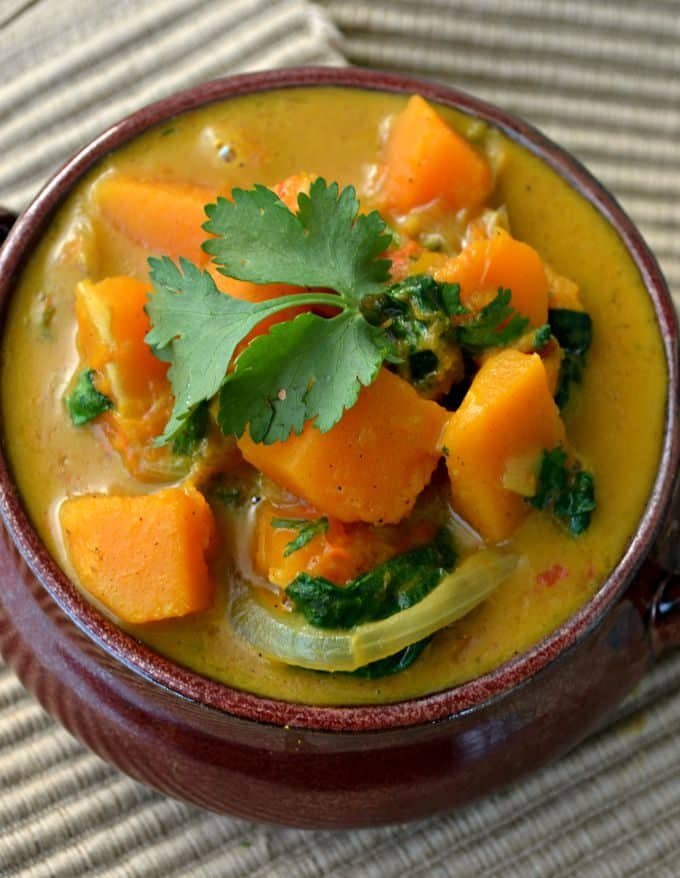 Easy Butternut Squash & Spinach Curry