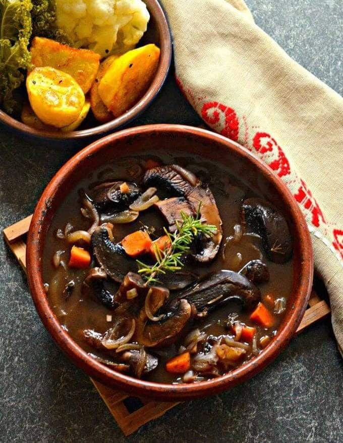 Vegan Portobello Pot Roast