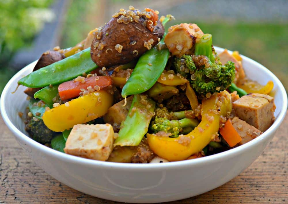 Tofu Quinoa Stir Fry - A Virtual Vegan