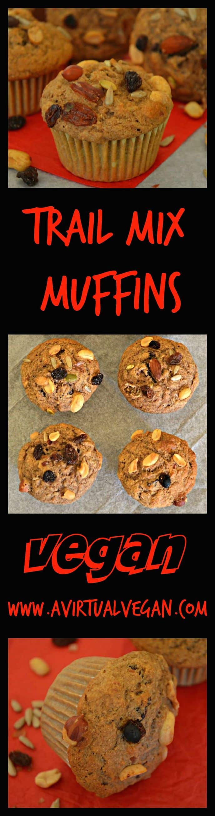 Tender spelt flour muffins with crunchy, chewy trail mix. Easy to make and perfect for a grab and go breakfast or healthy, energy boosting snack.