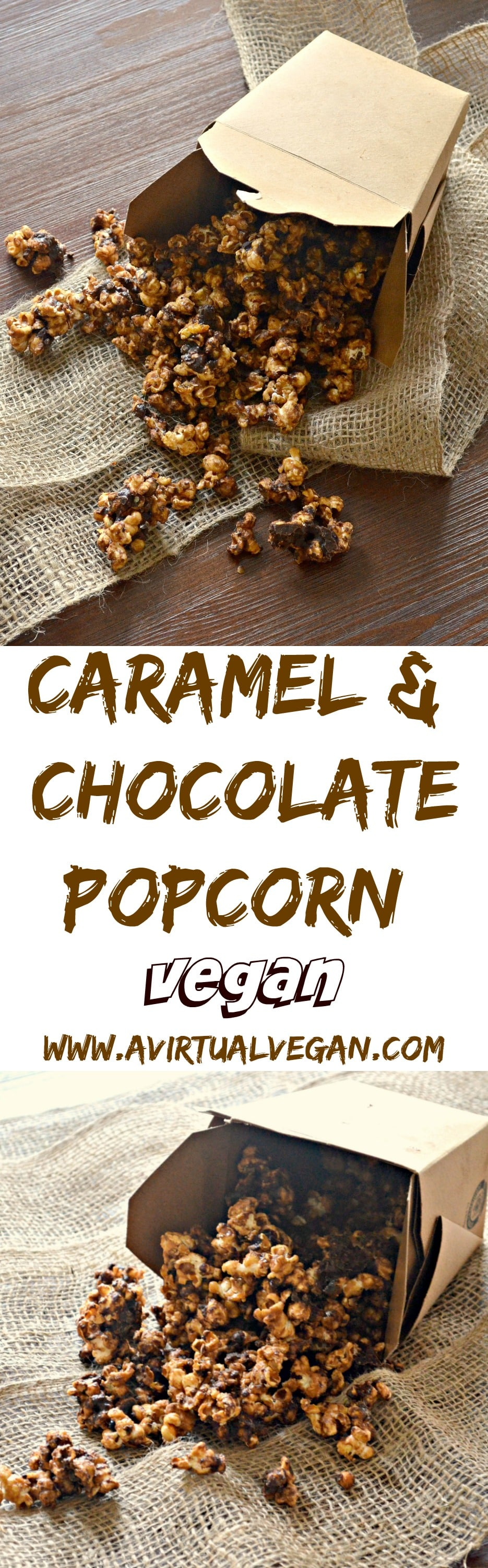 This popcorn is seriously addictive. Drenched in rich, buttery salted caramel, baked until perfectly crisp & then finished with lashings of chocolate, it is totally & utterly delicious & absolutely dairy free!  #popcorn #caramelpopcorn #vegan #chocolate