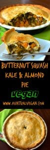 Flaky, delicious pastry, filled with sweet melt in your mouth butternut squash, deep green earthy kale & crunchy almonds. Only 6 ingredients and the pastry can be made in minutes in a food processor!