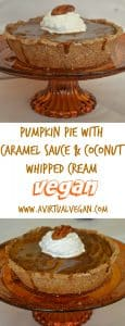 Pumpkin Pie With Caramel Sauce