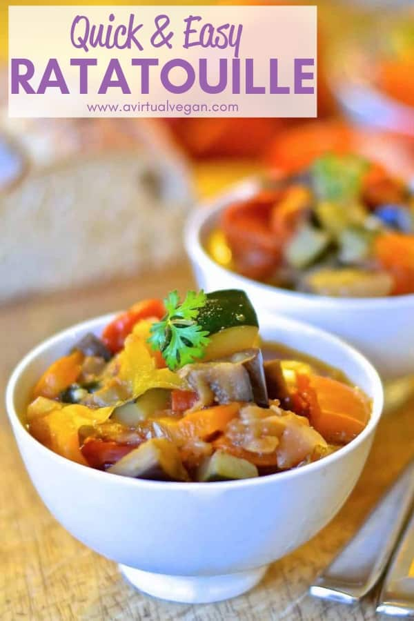 Aromatic herbs & beautiful fresh vegetables come together in this very hearty, super healthy Easy Ratatouille Recipewhich combines big flavour with simplicity. A perfect, quick & easy week night dinner!