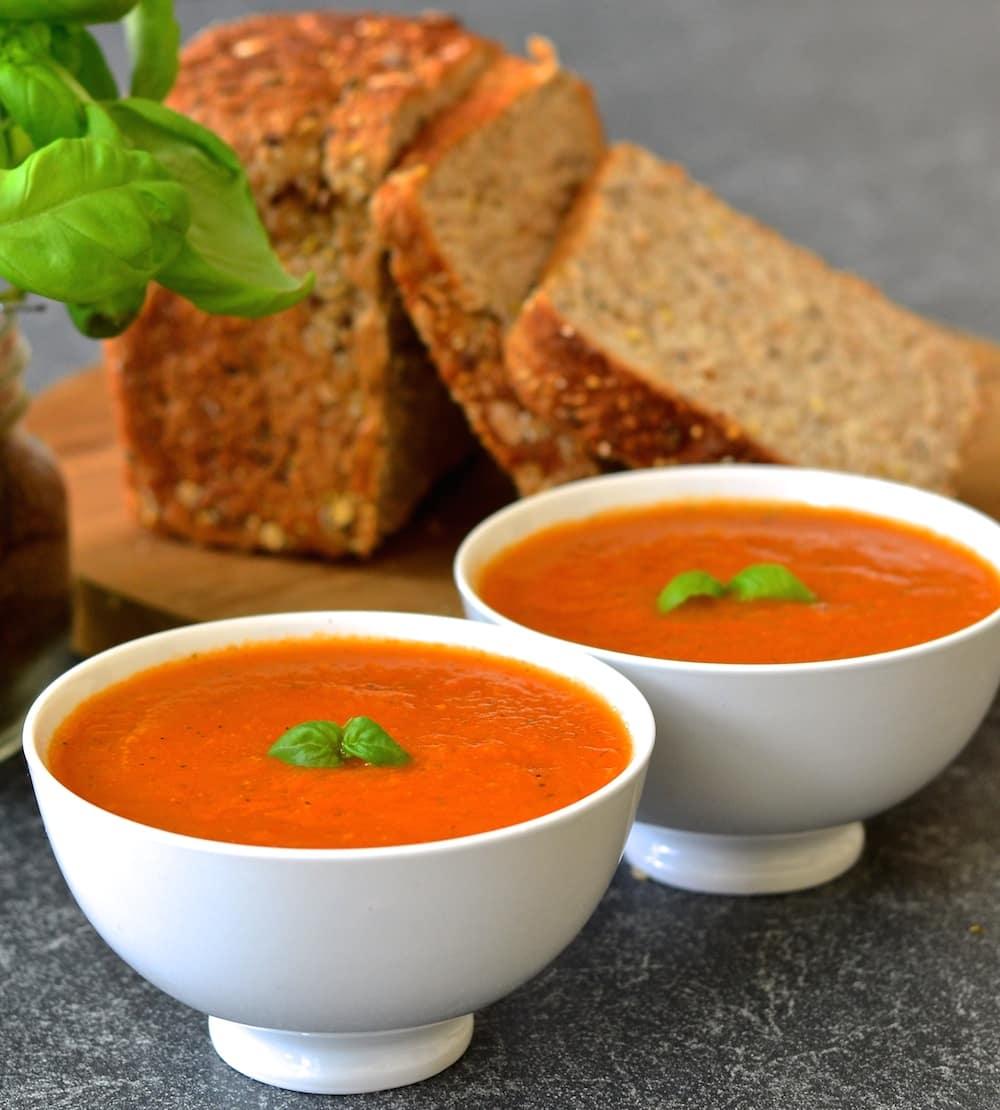 2 bowls of tomato soup
