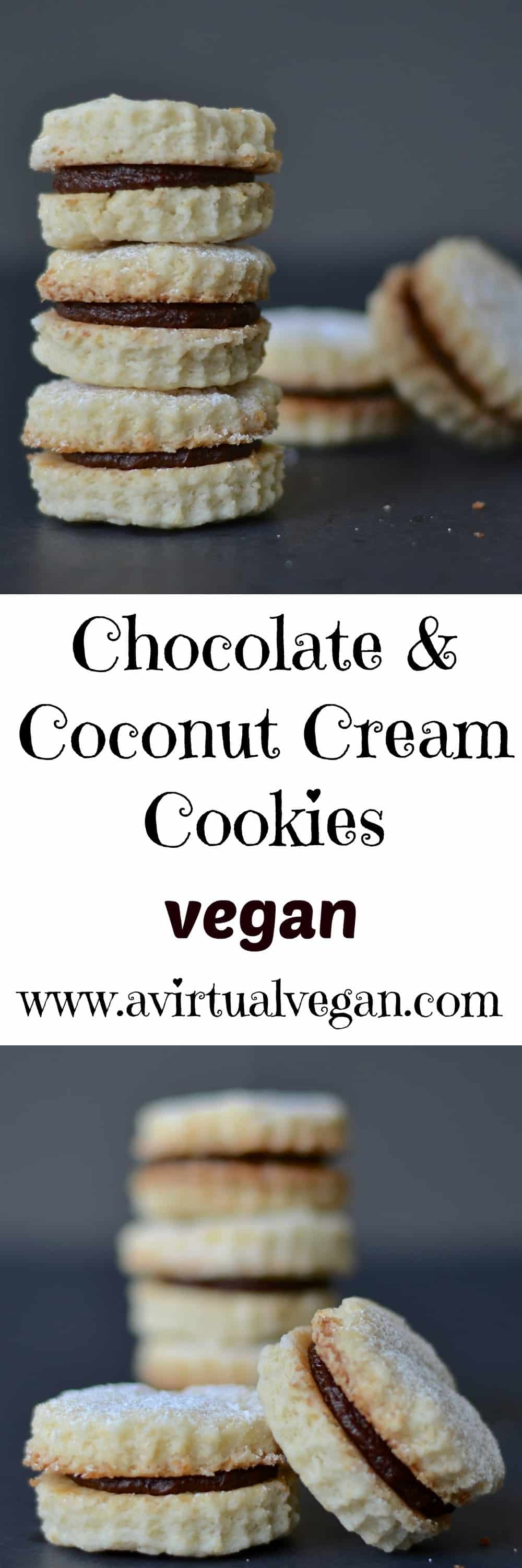 Melt in the mouth coconut cookies sandwiched together with a rich chocolate & coconut cream. Little morsels of deliciousness that taste like way more effort went into making them than it actually did!