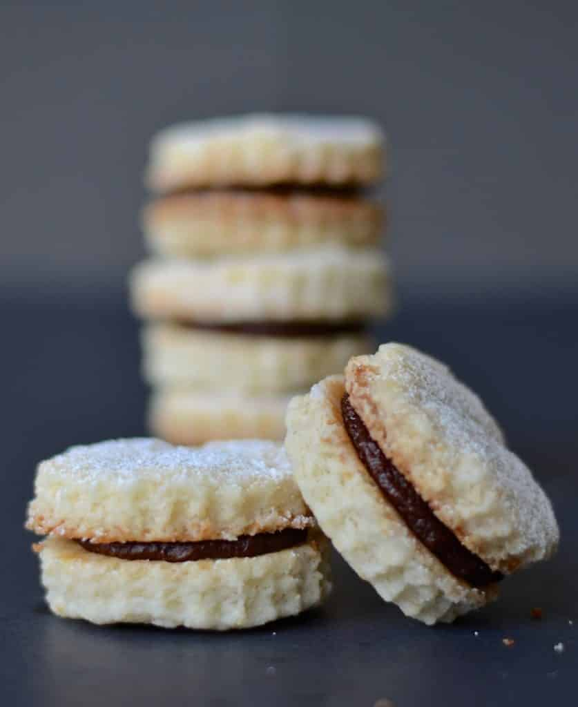 Melt in the mouth chocolate coconut cream cookies. Beautifully short morsels of deliciousness!
