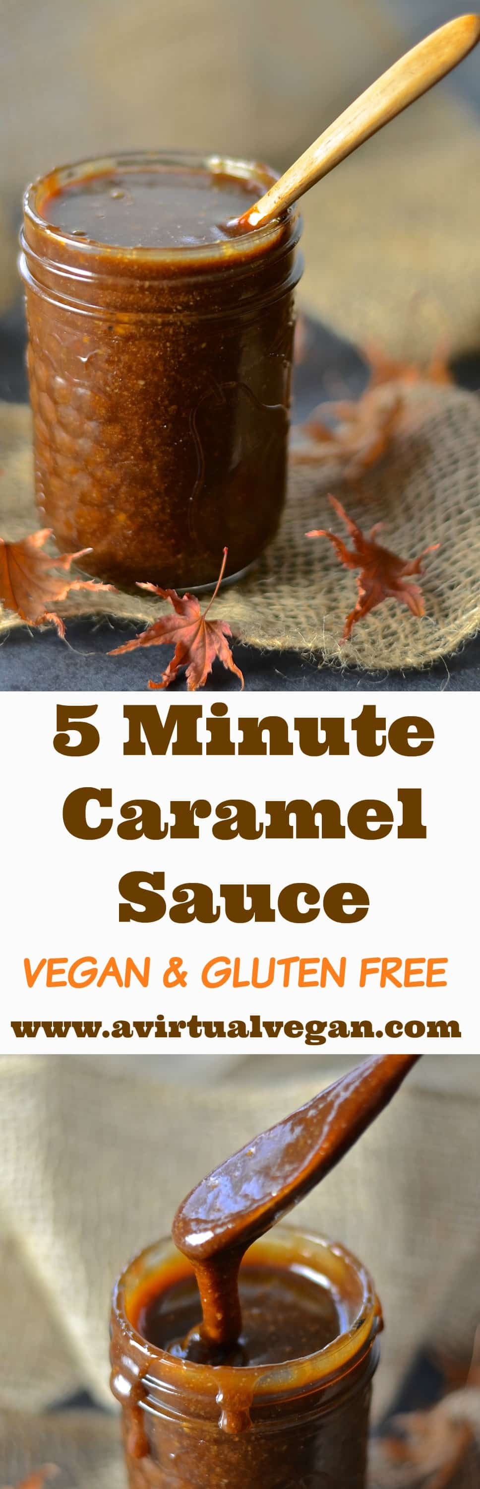 Dangerously addictive, ooey-gooey, rich & thick vegan caramel sauce. Ready in under 5 minutes & so incredibly delicious that you will need all of your will power not to eat it straight from the jar. Don't say I didn't warn you!