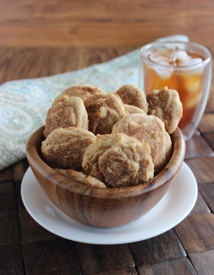 Cinnamon maple is a perfect combination and when the flavors get turned into Cinnamon Maple Cookies, eyes will roll in ecstasy. These are big cookies so get your munch on.