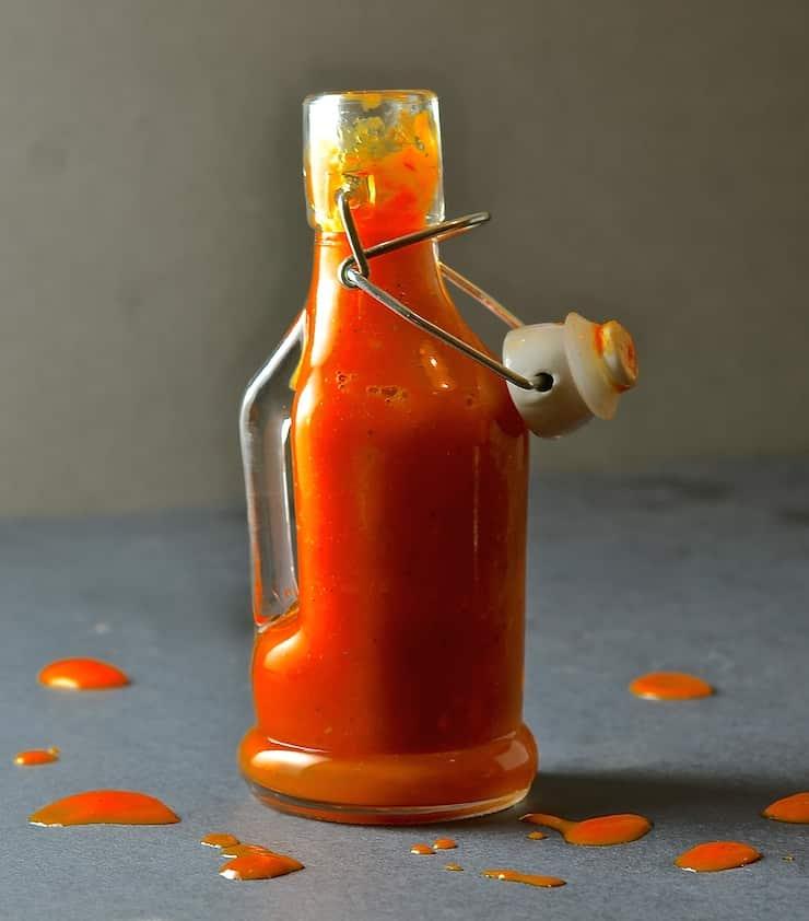 Fiery Habanero Hot Sauce in small bottle