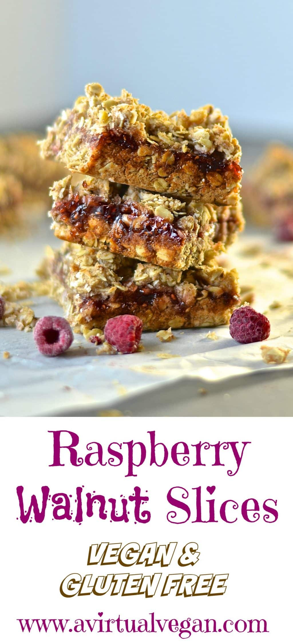 These raspberry walnut squares are incredibly quick & easy to make and with their crumbly, nutty, oaty layers & tangy, lip smacking raspberry jam, they are hard to resist!