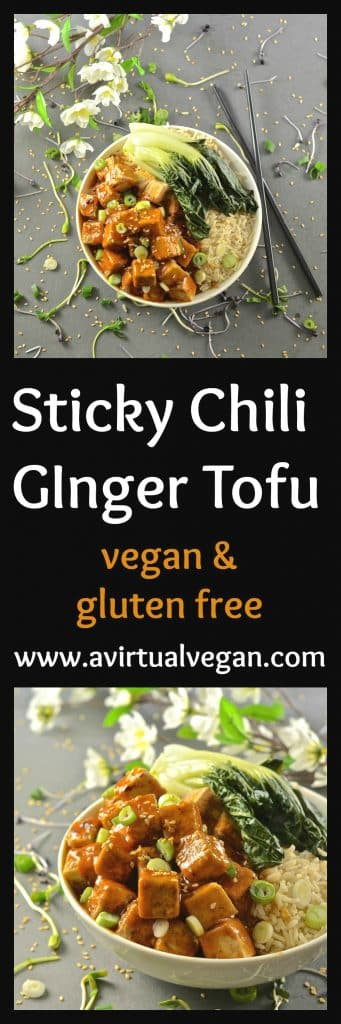 style Sticky Chili Ginger Tofu is so fast and easy to make. It's sweet ...