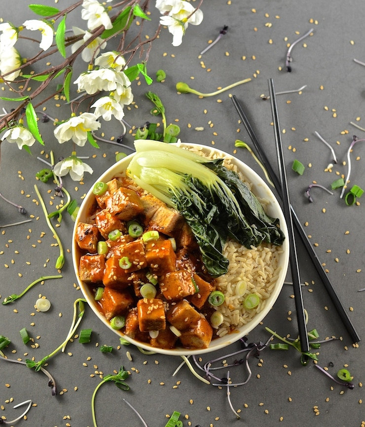 This Asian style Sticky Chili Ginger Tofu is so fast and easy to make. It's sweet, sticky & spicy with amazing depth of flavour & texture. A perfect mid-week meal!
