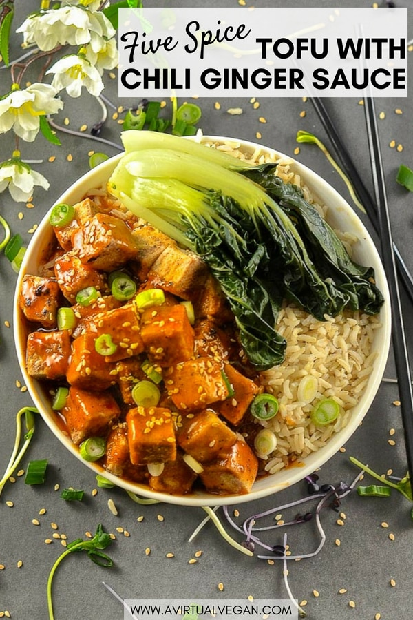 This Five Spice Tofu with Chili Ginger Sauce is so fast and easy to make.It's sweet, sticky & spicy with amazing depth of flavour. A perfect mid-week meal!