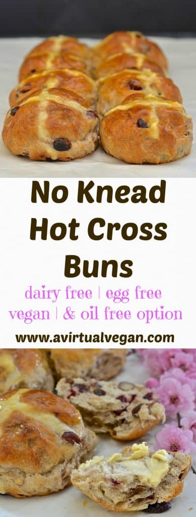 Nothing says Easter like the heavenly spiced fragrance of Hot Cross Buns baking in the oven & you can't go wrong with this very easy, no knead recipe