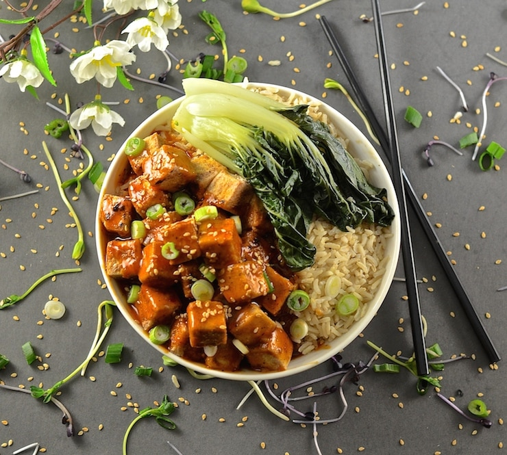 Sticky Chili Ginger Tofu - A Virtual Vegan