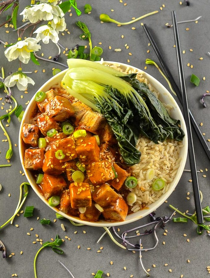 Five Spice Tofu with Chili Ginger Sauce