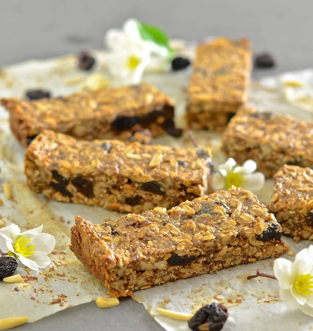 cherries, crunchy almonds & wholesome oats & seeds make these Cherry ...