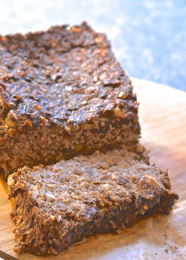 This vegan meatloaf is incredibly easy to make & is sure to please with it's deep & savoury flavour. Serve sliced & smothered in rich, thick gravy for a truly satisfying meal!