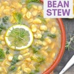A simple, light & summery white bean stew made with everyday ingredients. Full of fresh lemony, garlicky flavour & ready in under 30 minutes!