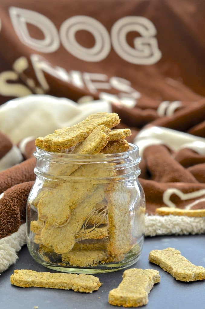 Make your dog's day by baking some healthy, 3 ingredient, wheat-free & dairy-free Sweet Potato Dog Treats!