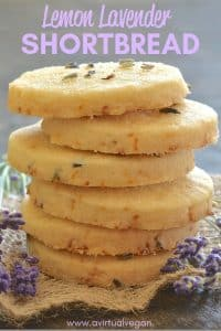 This beautifully rich, melt in your mouth, Lemon Lavender Shortbread is full of zesty lemon flavour with delicious subtle bursts of floral lavender.