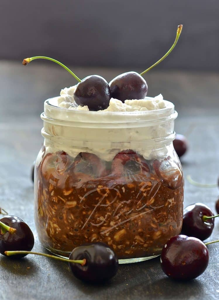 Who wouldn't want to wake up to these Black Forest Overnight Oats? Seriously the best oatmeal I have ever tasted. Just like a Black Forest Gateau but in a healthier breakfast form. Any other breakfast will be a disappointment after this jar of utter gorgeousness......
