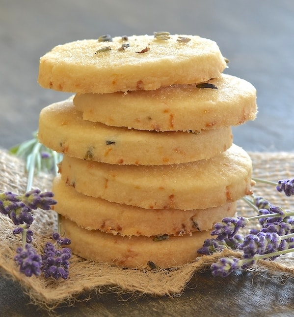 "This beautifully rich Lemon Lavender Shortbread is full of zesty lemon flavour with delicious subtle bursts of floral lavender in every bite. It literally melts in your mouth and has perfect shortbread ""snappability""!"