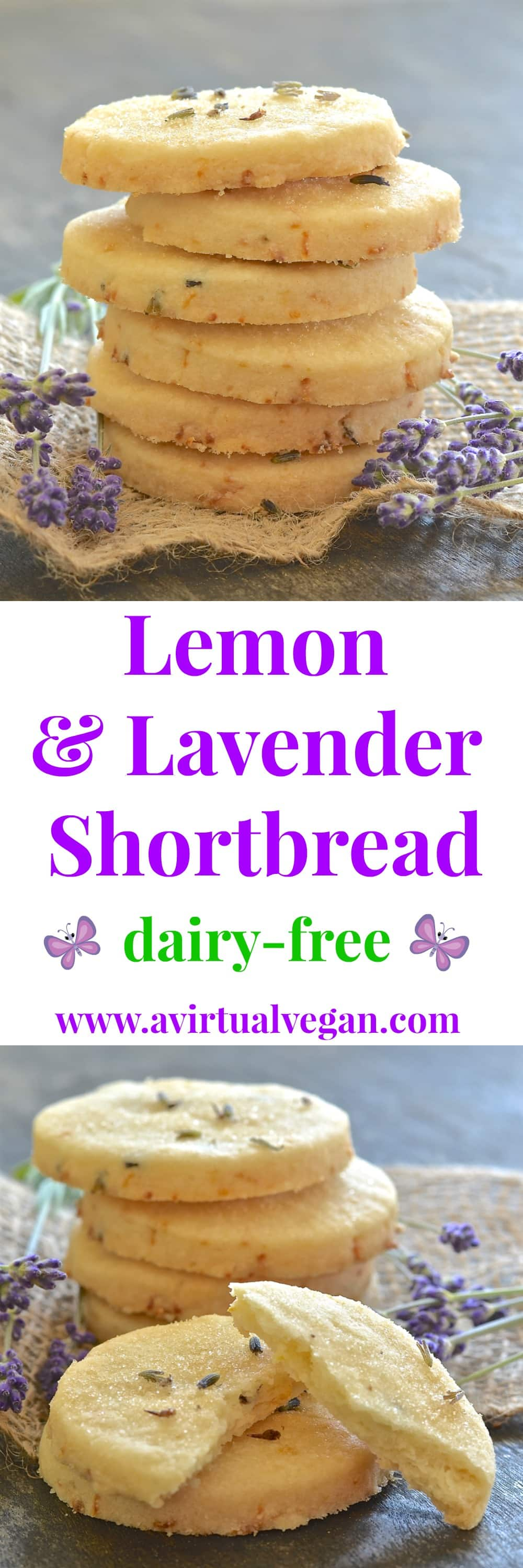 This beautifully rich Lemon Lavender Shortbread is full of zesty lemon flavour with delicious subtle bursts of floral lavender in every bite. It literally melts in your mouth and has perfect shortbread