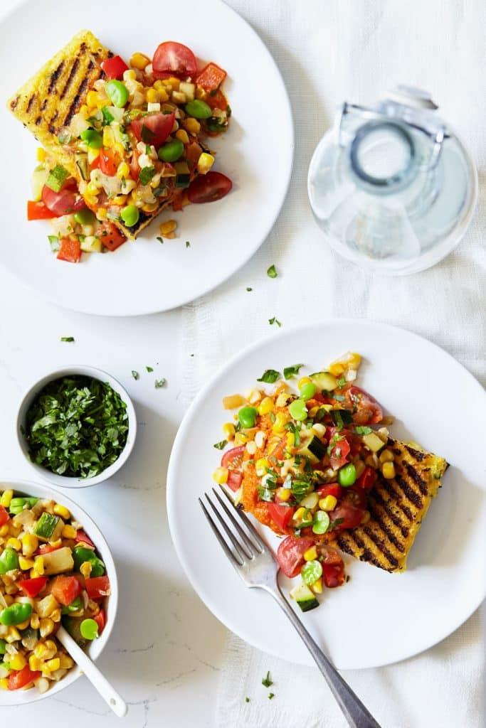 Summer+Succotash+Over+Grilled+Jalapeno+Polenta+-+Natural+Girl+Modern+World+-+1