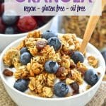 Energy boosting, healthy & oil-free, this Vegan Almond Hemp Granola makes a fantastic breakfast or snack. Great served with yogurt & fresh fruit or a splash of cold plant-based milk, or even by the handful!