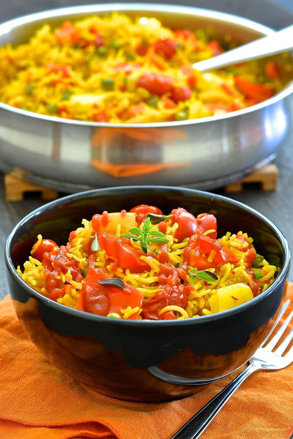 One Pot Spicy Vegetable Rice A Virtual Vegan