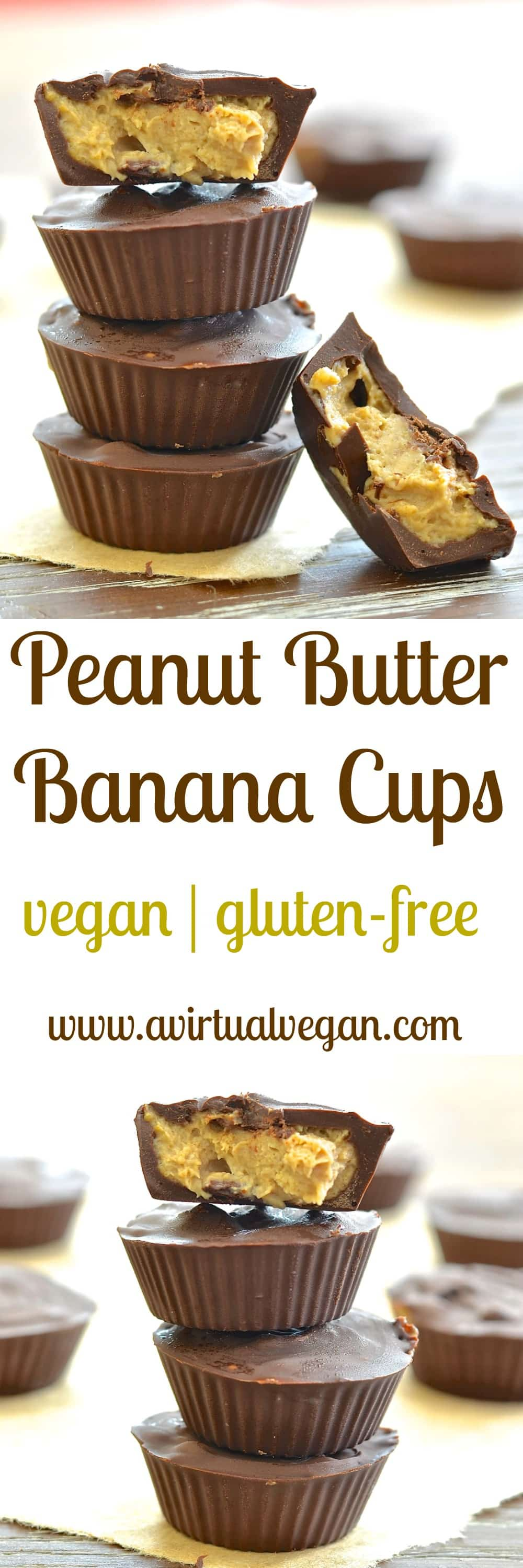 These 4 ingredients Peanut Butter Banana Cups are a lighter alternative to more traditional versions and are literally melt in your mouth delicious. Eat straight from the freezer for an ice-creamy, fudgy type filling, or leave to defrost for 5 - 10 minutes and have a super creamy, smooth and oozy melt in your mouth delicious.