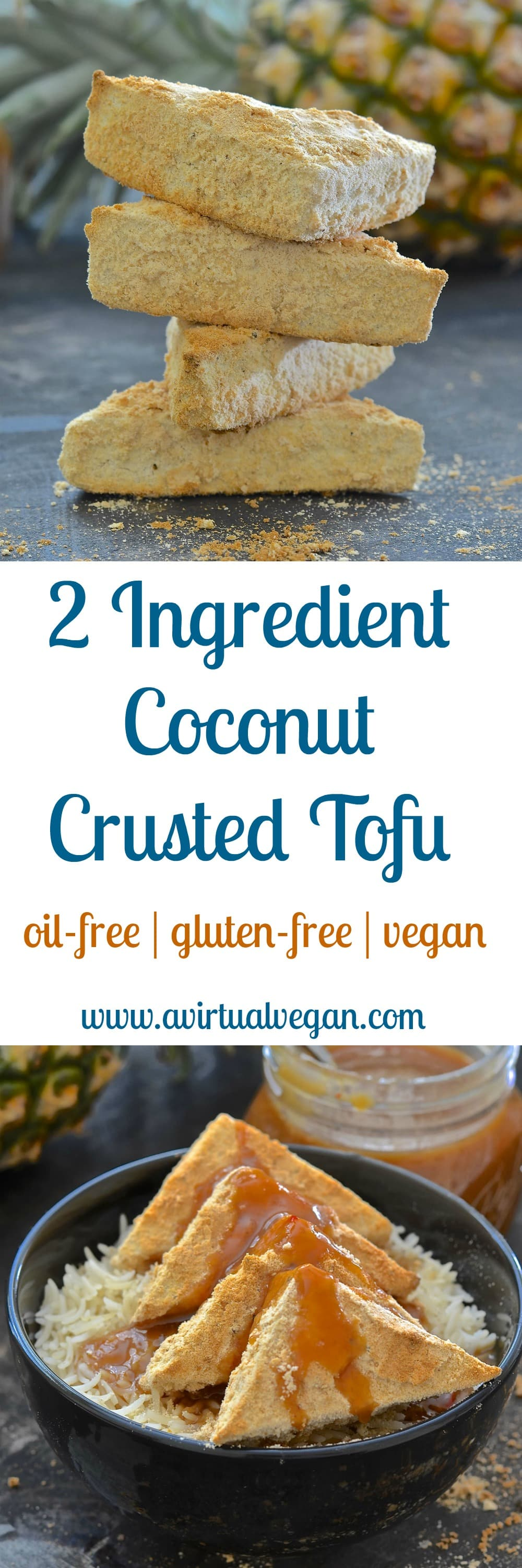 Simplicity at it's best! With just two ingredients & 35 minutes of your time you could be tucking into this delicious Coconut Crusted Tofu. Could it get any better? ……. Well yes actually…..Because it's gluten-free, oil-free, low fat and has 10 grams of protein per serving!