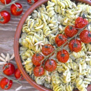 Creamy Vegan Pesto Pasta Salad