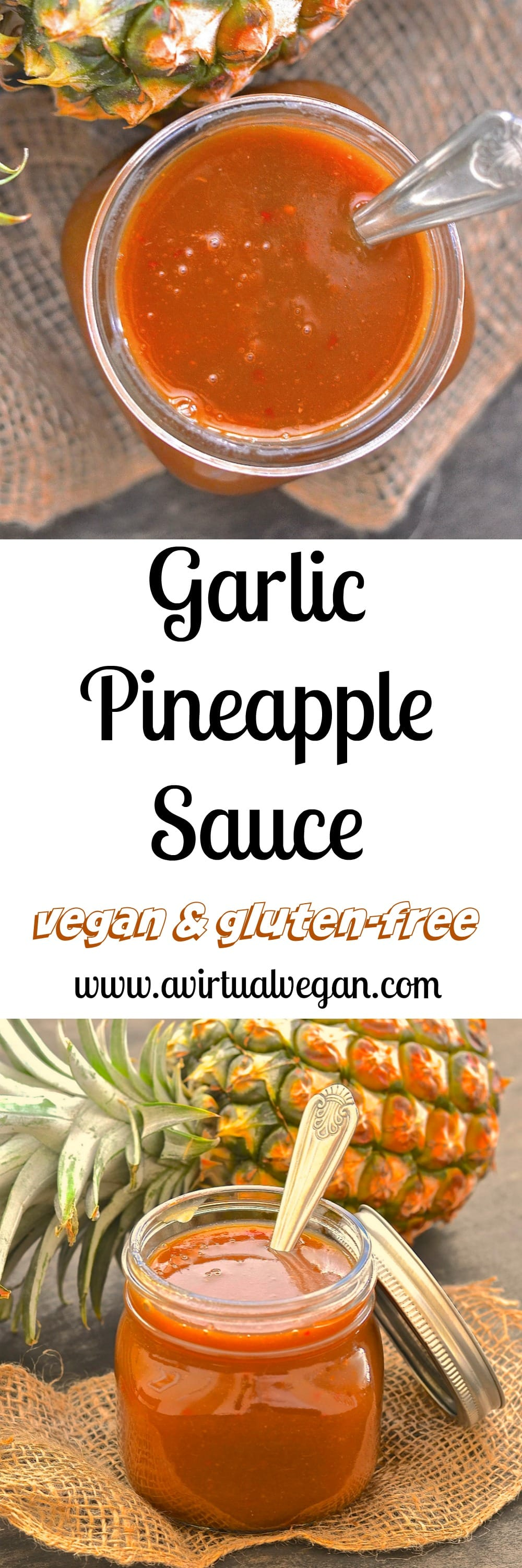 Get your coconut shell bikini & grass skirt ready because when you try this super tangy, sweet & spicy Garlic Pineapple Sauce you will want to dance around your kitchen in true Hawaiian style! Great in stir fries, as a marinade, on rice bowls or as a dipping sauce & ready in less than 10 mins!