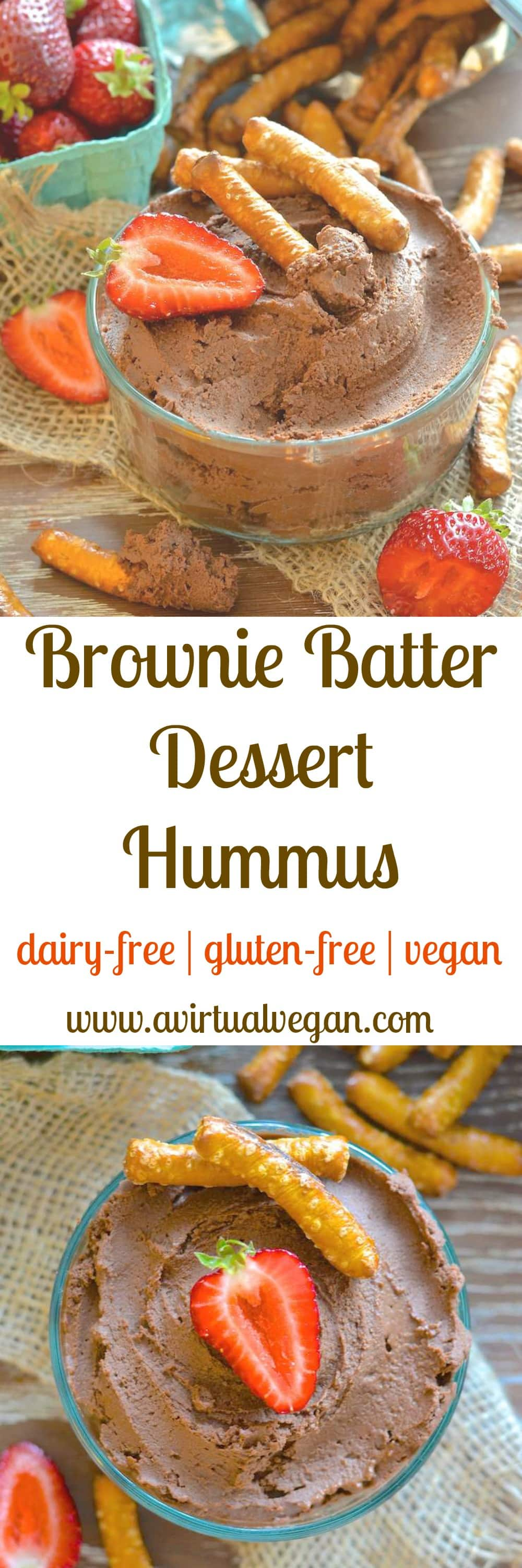 This is what happens when a beautiful chocolate brownie and a handsome can of chickpeas have a secret love child……Yes it's Brownie Batter Dessert Hummus….Yes it is amazingly delicious….And yes dessert hummus is a thing!